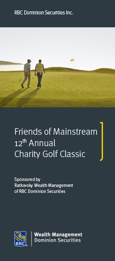 Friends of Mainstream 12th Annual Charity Gold Classic Flyer