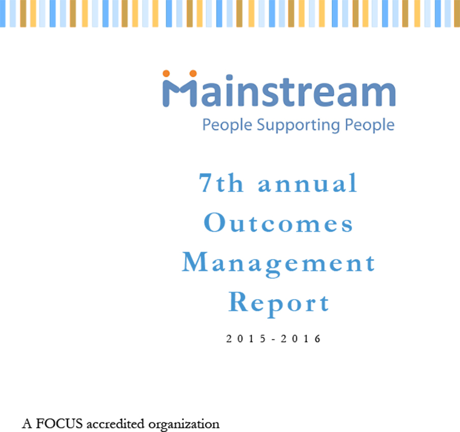 Outcome Management Report 2015-2016, Mainstream Services